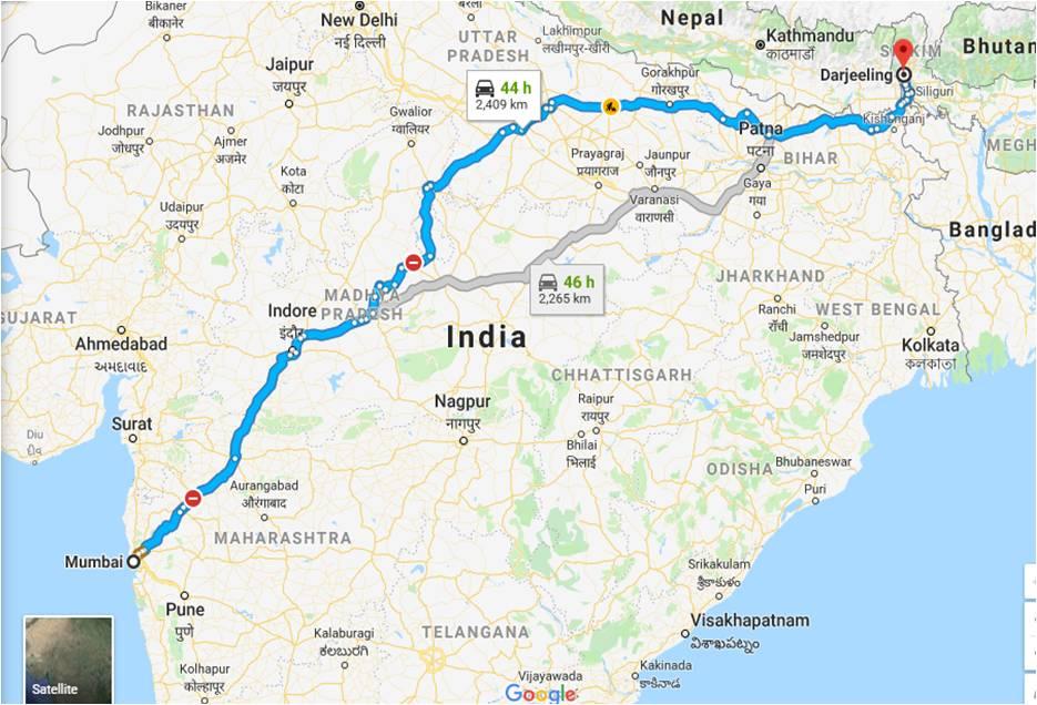 Mumbai-to-darjeeling