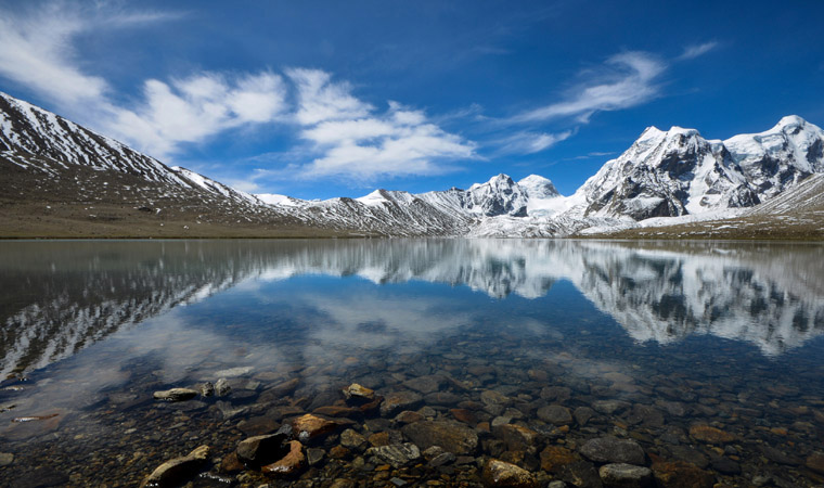 Gurudongmar-Lake-in-Summer-North-Sikkim