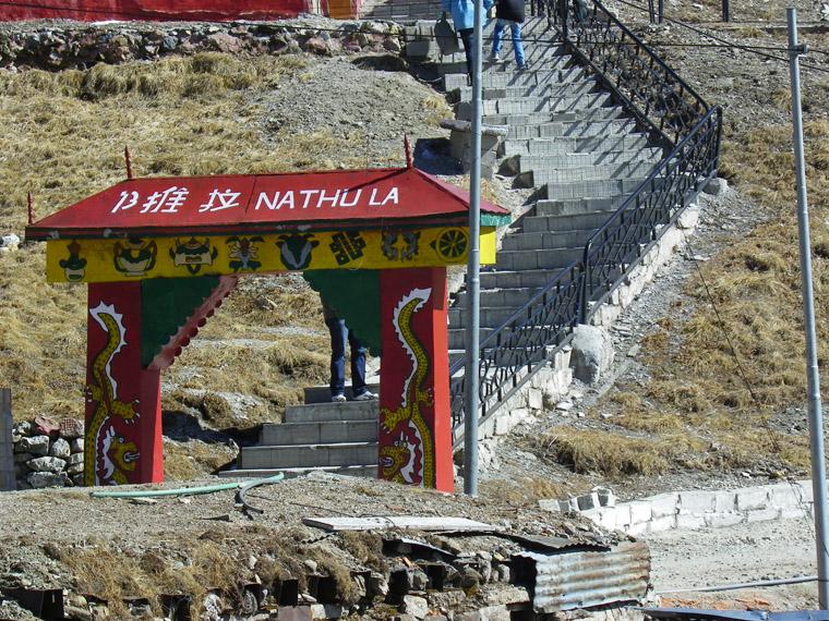 Staircase-to-Indo-China-Border-Nathula-Pass